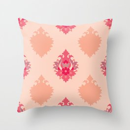 Shah-Abbasi Flower Pattern (Pink) Throw Pillow