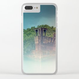 Shipwreck in the Mist Clear iPhone Case