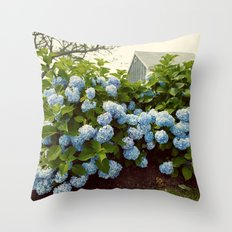 Cape Cod Hydrangeas Throw Pillow