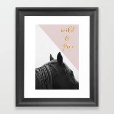Wild & Free (Pink Horse) Framed Art Print