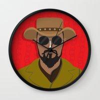 django Wall Clocks featuring Django by Mohac
