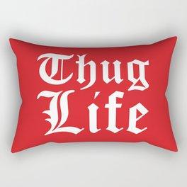 THUG LIFE (Red) Rectangular Pillow