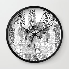 Times Square, August 14th 1945 Wall Clock