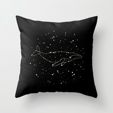 Whale Constellation  Throw Pillow