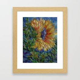 Sunflower Painting Framed Art Print