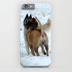 Dogs playing in the snow Slim Case iPhone 6s