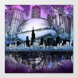 chicago city skyline Canvas Print