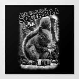attack-of-squirilla tshirt Canvas Print