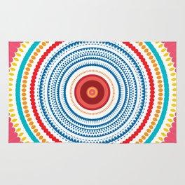 Colorful round kaleidoscope Rug