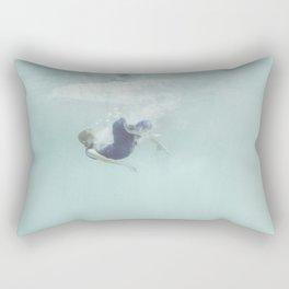 Woman Falling In Rectangular Pillow