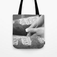 Hidden modesty Tote Bag