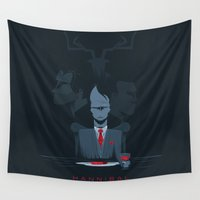 hannibal Wall Tapestries featuring Hannibal series by Inno Theme