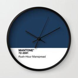 MANTONE® Rush-Hour Manspread Wall Clock