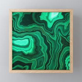 Emerald Marble Framed Mini Art Print
