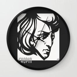 Art Deco style Chopin Wall Clock