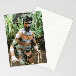 Papua New Guinea Villager Stationery Cards