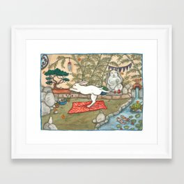 Yoga Bunny Framed Art Print