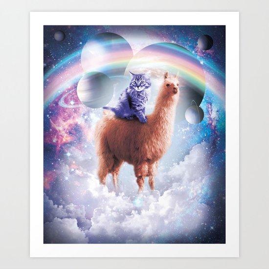 Rainbow Llama - Cat Llama by randomgalaxy