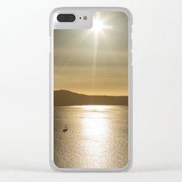 Sunset over Santorini Clear iPhone Case