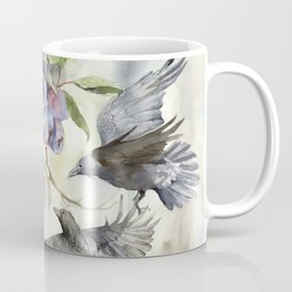 Plum tree with Crows around it Coffee Mug