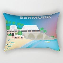 Bermuda - Skyline Illustration by Loose Petals Rectangular Pillow
