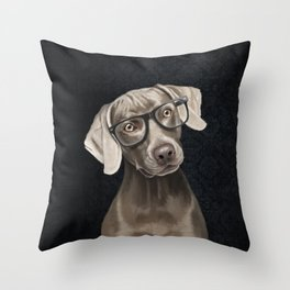 Mr Weimaraner Throw Pillow
