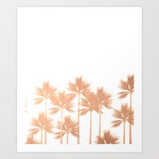 Palm Trees (W) Art Print