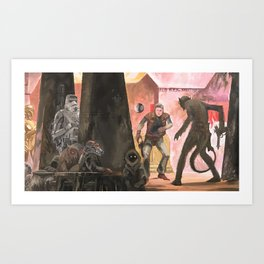 Mos Eisley Cantina Art Print