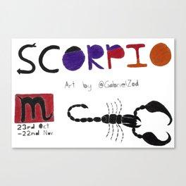Scorpio Season(White) Canvas Print