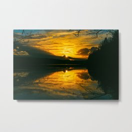 Sundown At Lake Heve 5 Metal Print