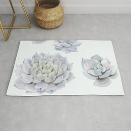 Blue Succulents Rug