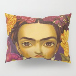 Frida Flowers Pillow Sham