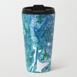 Sea Leaves, Environmental Love of the Ocean Blue Travel Mug