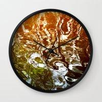 illusion Wall Clocks featuring Illusion by Kitsmumma