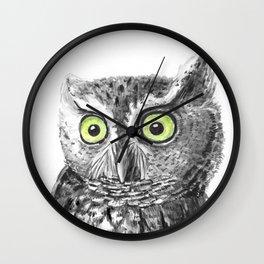 Owl portrait Wall Clock