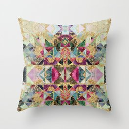 Multicolored abstract pattern Throw Pillow