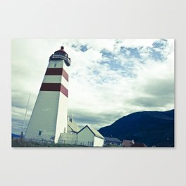 Lighthouse in norway Canvas Print