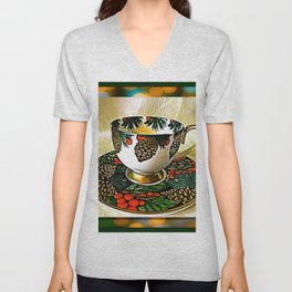 The Tea Cup Gift Of Friendship Unisex V-Neck