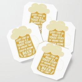 Beer Bread hop malt drinking funny gift Coaster