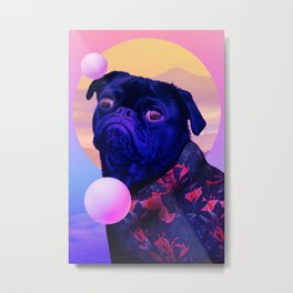 BatDog Summer Time Metal Print