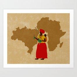 capoeira mãe africa Art Print