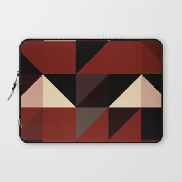 Red Black Block Pattern Abstract Laptop Sleeve