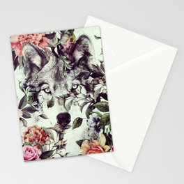 Floral Wolf Stationery Cards