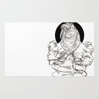 walrus Area & Throw Rugs featuring Walrus by Hopler Art