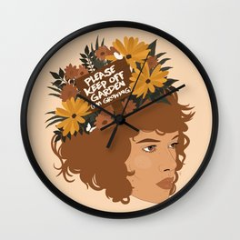 Please Keep Off Garden (I'm Growing) Wall Clock