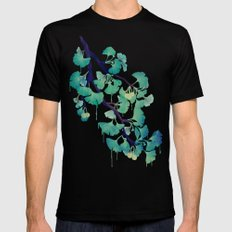 O Ginkgo (in Green) Black LARGE Mens Fitted Tee