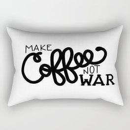 Coffee Not War (Black) Rectangular Pillow