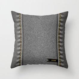 Denim background Throw Pillow