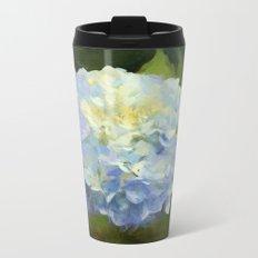 Blue Hydrangeas Metal Travel Mug