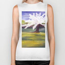 spring apple tree Biker Tank